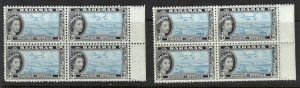 Bahamas 165 Two MNH Blocks of 4
