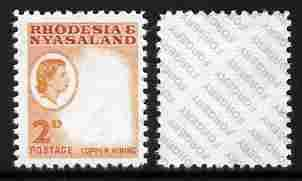 Rhodesia & Nyasaland 1959-62 Copper Mining 2d with ce...