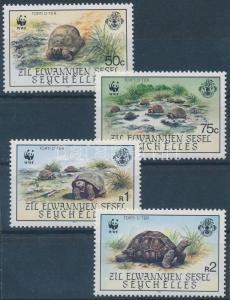 Seychelles-Zil Elwannyen Sesel stamp WWF Turtles MNH 1987 Mi 137-140 WS143103