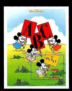 MALI - 1996 - DISNEY - MICKEY - MINNIE - ABC - CHILDREN - MINT - MNH S/SHEET!