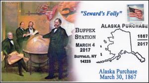 17-060, 2017, Alaska Purchase, 150 years, Bufpex, Pictorial Event Cover