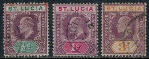 St. Lucia #43-4,7  CV $12.80