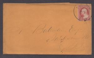 **US 19th Century Cover, SC# 11 XF 4 Margin Stamp, Perm, IL CDS, No Contents