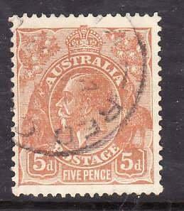 Australia-Sc#75- id5-used 5p KGV-1930--