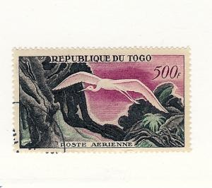 Togo, C30, Bird - Great White Egret Airmail Single, Used