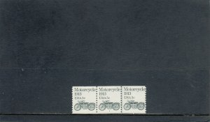 UNITED STATES 1899 MNH PLATE STRIP 3 PLATE 2 2019 SCOTT CATALOGUE VALUE $0.80