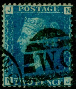 SG47, 2d dp blue plate 14, USED. Cat £38. NJ