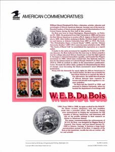 US CP380 W E B Dubois 2617 Commemorative Panel Mint