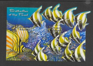 FISH - PITCAIRN #546a  BUTTERFLY FISH  MNH