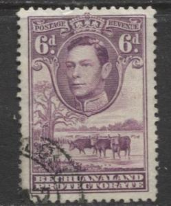 Bechuanaland - Scott 130 - KGVI - Definitive -1938 - Used - Single 6p Stamp