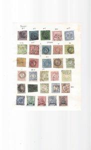 Baden Bavaria German States 1800's 30 stamps Hi CV$$$$$$