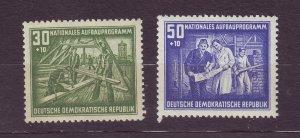 J23298 JLstamps 1952 germany DDR hv,s of set mnh #b24-5 views