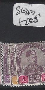 MALAYA JOHORE (P1412B) SG 21-3   MOG