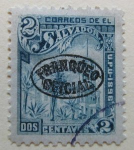 A6P38F209 Salvador Official Stamp 1897 Unwmk optd 2c used