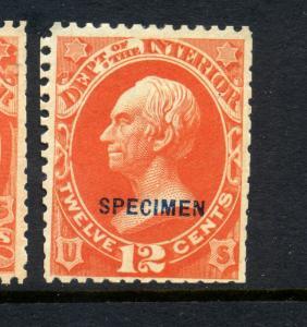 Scott #O20S Interior Dept. Special Printing Specimen Official Stamp (Stk #O20-1)