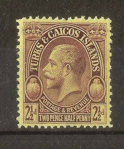 Turks & Caicos 1928 2.5d SG180/Shade MNH
