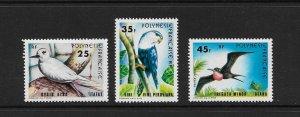 BIRDS - FRENCH POLYNESIA #337-9  MH