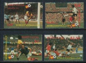 St. Lucia #578-81*  CV $6.90  World Soccer Cup