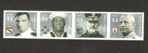 4440-3 Distinguished Sailors Strip Of 4 Mint/nh FREE SHIPPING