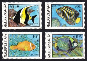 Maldives WWF Fish 4v SG#1183=1187 MI#1198-1201 SC#1185-1187+ 89