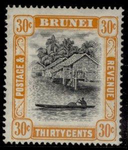 BRUNEI GVI SG88b, 30c black & orange, LH MINT.