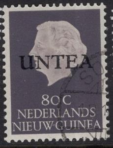 Netherlands West New Guinea UNTEA  #1 UN temporary authority 1962 cancelled 80c