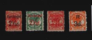 Samoa 1898 Sc 26,28-30 MH