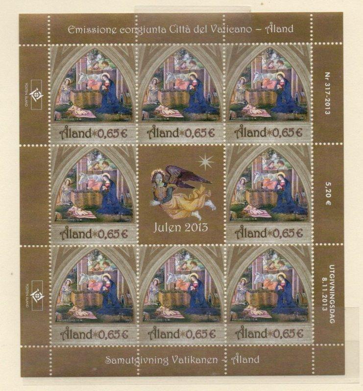 Aland Finland Sc 350 2013 Christmas stamp sheet mint NH