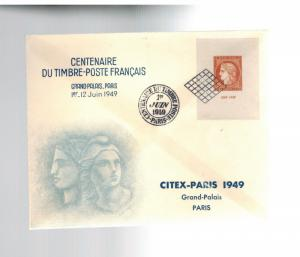 1949 France First Day Cover Centenary of First Stamp Citex show # 624 FDC
