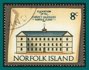 Norfolk Island 1975 Buildings IV, 8c used  #162,SG139