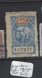 ARGENTINA  (P1509B)  BUENOS AIRES REVENUE  1901