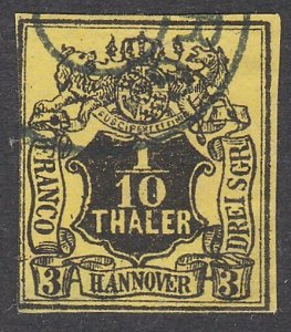 GERMANY HANNOVER  An old forgery of a classic stamp.........................C199