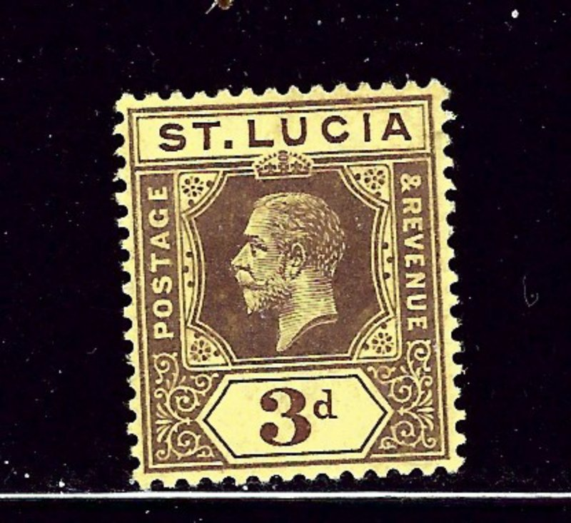 St Lucia 68a MNH 1912 issue die II