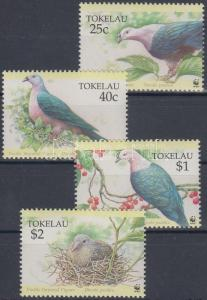 Tokelau stamp Fruit Dove sets 4 FDC Cover 1995 Mi 210-213 Cover WS137055