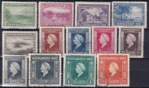 Netherlands Indies #250-62  F-VF Used  CV $3.55  Z6