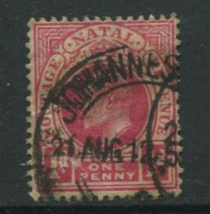 STAMP STATION PERTH Natal #102 Used KEVII 1904 Wmk 3 Multi Crown and CA CV$0.25.