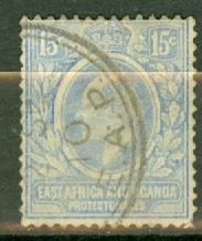 East Africa & Uganda 36 used pale CV $11