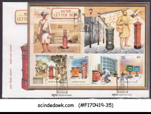INDIA - 2005 LETTER BOX - MIN. SHEET - FDC