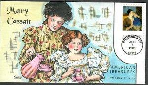 US Collins FDC Sc#3804 Mary Cassatt