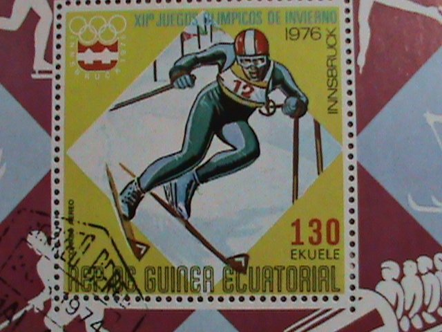 GUINEA EQUATORIAL STAMP: 1976-OLYMPIC GAMES-MONTREAL'76 CANADA -CTO-S/S SHEET