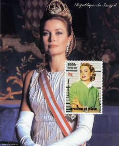 Senegal 1998 GRACE KELLY PRINCESS OF MONACO s/s Perforated Mint (NH)
