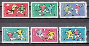 Bulgaria, Scott cat. 1842-1847. 9th World Cup Soccer issue. ^