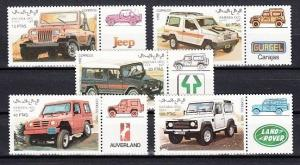 Sahara, 1992 Cinderella issue. Jeeps-Autos issue.