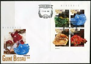 GUINEA BISSAU 2019 MINERALS SHEET FIRST DAY COVER