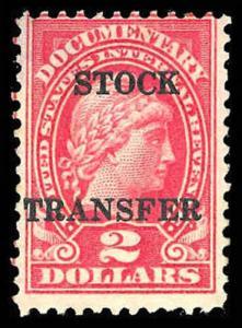 U.S. REV. STOCK TRANSFER RD38  Mint (ID # 83663)