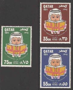 Qatar 256-258 Mint VF NH