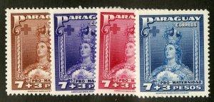 PARAGUAY B6-9 MNH SCV $1.60 BIN $1.00