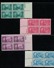 SCOTT # 930-933 COMPLETE PLATE BLOCK SET OF FOUR FDR MINT NEVER HINGED !! 1945