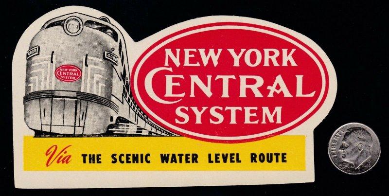 US Vintage New York Central System Railroad Cinderella Stamp GORGEOUS!