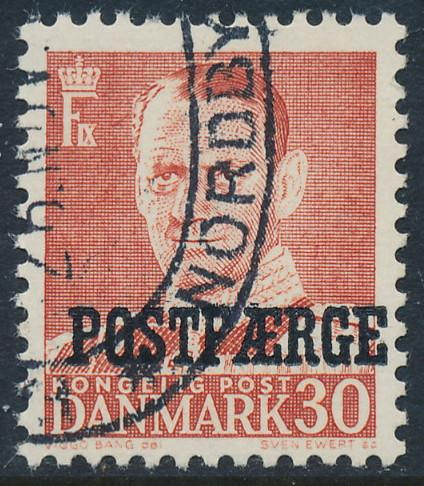 Denmark Scott Q36 (AFA PF37), 30ø red Postfærge, VF used